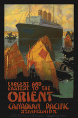 Orient - Canadian Pacific Steamships - Cross Stitch Pattern