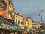 Verona Street Scape I Cross Stitch Pattern