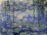 Water-Lilies Cross Stitch Chart - Claude Monet