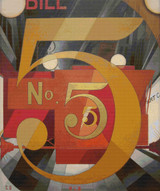 I Saw the Figure 5 in Gold Cross Stitch Pattern - Charles Demuth