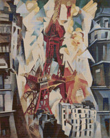 The Red Tower Cross Stitch Chart - Robert Delaunay