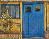 Bright Blue Door Cross Stitch Pattern - Ed Bolt