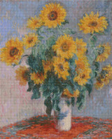 Sunflowers Cross Stitch Pattern - Claude Monet