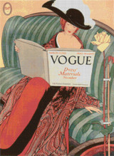 Vogue Magazine Cover - March 15, 1912 - Cross Stitch Pattern