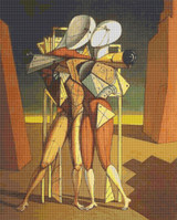 Hector and Andromaca Cross Stitch Pattern - Giorgio de Chirico