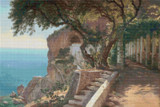 Pergola in Amalfi Cross Stitch Pattern - Carl Frederic Aagaard