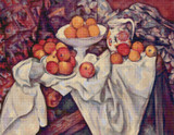 Apples and Oranges Cross Stitch Chart - Paul Cezanne
