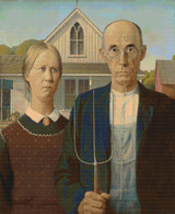 American Gothic Cross Stitch Pattern - Grant Wood
