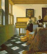 The Music Lesson Cross Stitch Chart - Johannes Vermeer