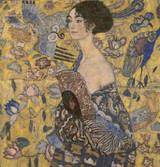 Lady with a Fan Cross Stitch Pattern - Gustav Klimt