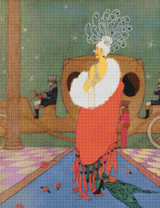 Vogue Magazine Cover - January 15, 1918 Cross Stitch Pattern