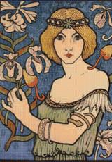 Affiche Pour le Salon des Cent Cross Stitch Pattern - Paul Berthon