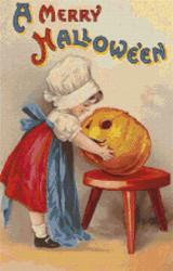 A Merry Halloween Cross Stitch Pattern