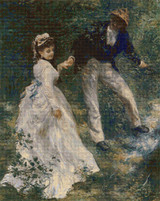 The Promenade Cross Stitch Pattern - Pierre-Auguste Renoir