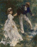 The Promenade Cross Stitch Pattern - Pierre-Auguste Renoir