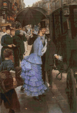 The Bridesmaid Cross Stitch Chart - James Tissot