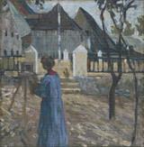 Gabriele Münter Painting in Kallmünz Cross Stitch Pattern  - Wassily Kandinsky