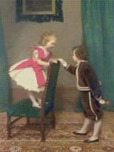 Miss Lily's First Flirtation Cross Stitch Pattern - James Hayllar