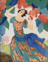 Vogue Magazine Cover - February 1, 1921 Cross Stitch Pattern