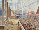 Geraniums and Carnations Cross Stitch Pattern - Eric Ravilious