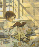 Girl Reading Cross Stitch Pattern - Jessie Willcox Smith