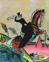 A Riding Amazon Cross Stitch Pattern - Wassily Kandinsky