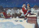 Santa Cross Stitch Pattern - Newell Convers Wyeth