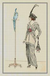 Robe de Taffetas á Fleurs et Ottoman de Soie - Cross Stitch Chart