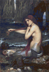 The Mermaid Cross Stitch Pattern - John William Waterhouse