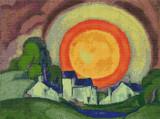 May Moon Cross Stitch Pattern - Oscar Bluemner