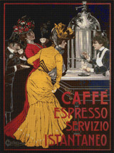Caffe Espresso Servizio Istantaneo Cross Stitch Pattern