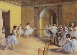 Dance Class at the Opera Cross Stitch Pattern - Edgar Degas