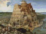 Tower of Babel Cross Stitch Pattern - Pieter Bruegel the Elder