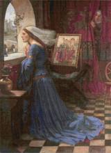 Fair Rosamund Cross Stitch Pattern - John William Waterhouse