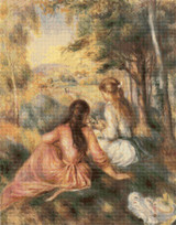 In the Meadow Cross Stitch Pattern - Pierre-Auguste Renoir