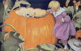 Peter, Peter, Pumpkin-eater Cross Stitch Chart - Jessie Willcox Smith
