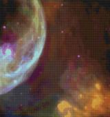 Bubble Nebula Cross Stitch Pattern