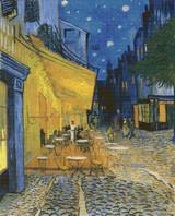 Café Terrace on the Place du Forum Cross Stitch Pattern - Vincent van Gogh