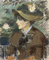 On The Bench Cross Stitch Chart - Edouard Manet