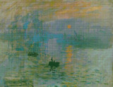 Impression, Sunrise Cross Stitch Chart - Claude Monet