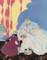 Vogue Magazine Cover - May 1916 Cross Stitch Pattern