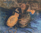 A Pair of Shoes - 1887 Cross Stitch Pattern - Vincent van Gogh