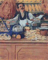 Baker Cross Stitch Pattern - Boris Kustodiev