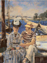 Argenteuil Cross Stitch Chart - Edouard Manet