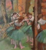 Dancers, Pink and Green Cross Stitch Chart - Edgar Degas