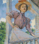 A Summer Girl Cross Stitch Pattern - Robert Lewis Reid