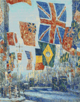 Avenue of the Allies, Great Britain Cross Stitch Pattern - Childe Hassam