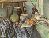 Still Life with a Ginger Jar and Eggplants Cross Stitch Pattern - Paul Cezanne