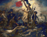 Liberty Leading the People Cross Stitch Pattern - Eugene Delacroix