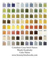 Crinolines Cross Stitch Pattern - Wassily Kandinsky